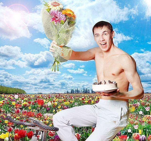 Картинки с цветами для мужчин в день рождения, днем
